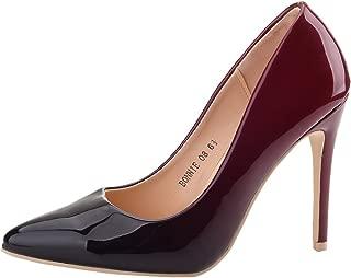 burgundy glitter heels