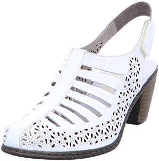 Rieker 40959-80 Sandales pour Femme (Blanc)
