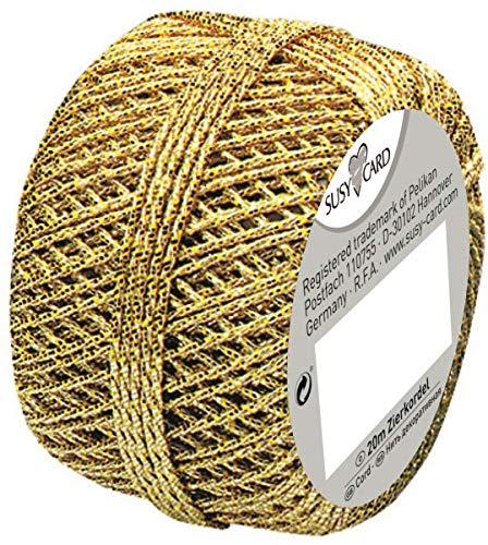 Preisvergleich Produktbild Susy Card 11103991 Weihnachts-Cordonnet Knäuel,  1 Stück,  eingeschweißt,  20 m