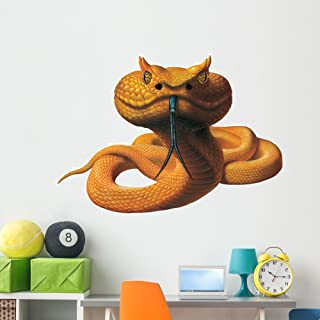 Eyelash Viper Snake Wall Decal by Wallmonkeys Peel and Stick Graphic (60 in W x 42 in H) WM174511