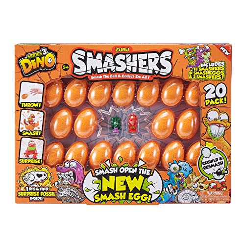 Smashers Smash Ball Collectibles Series 3 Dino (20 Pack) by Zuru