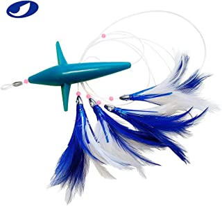 OCEAN CAT Trolling Fishing Lures Daisy Chain Bird Feather Teaser for Fishing with Rigged Hook 7/0 for Mahi, Tuna, Wahoo and More