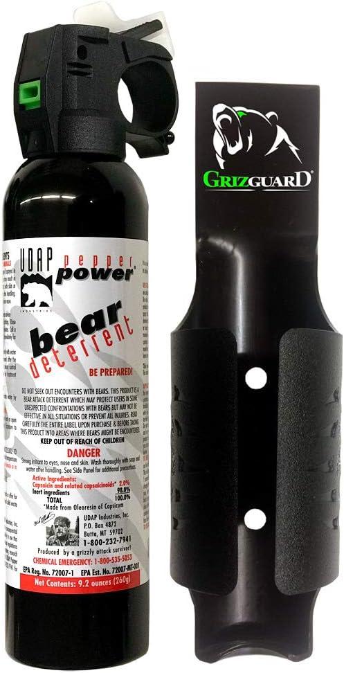 UDAP - 9.2 oz. Magnum Bear Pepper 時間指定不可 Guard 低価格 W Deterrent Gris H Spray