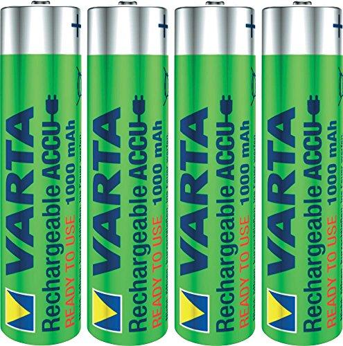 Varta accu niMH Micro AAA 1000 mAh-Lot de 2 x 4 pièces