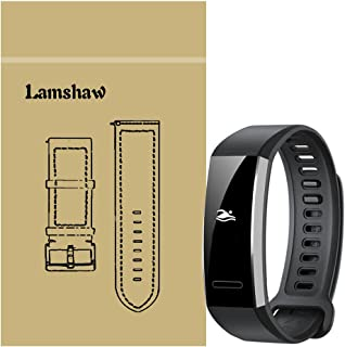 for Huawei Band 2 Pro Band, Lamshaw Classic Silicone Band for Huawei Band 2 Pro Smart Fitness Wristband (Black)