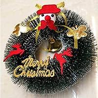 RICISUNG デコレーション あなたのドア壁 クラウンクリスマス 人工クリスマス または窓用の花輪 花輪手作り 秋の花輪 理想的なクリスマスデコフラワー Elk 15cm