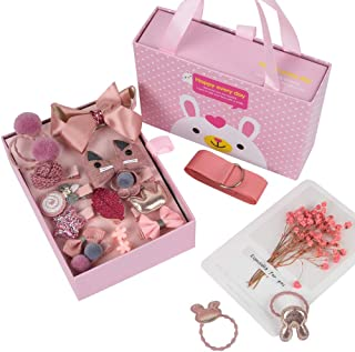 Top Festival Gifts for Girls hair clips Age 3-10 years Hair Accessories kit Great Gifts with gift boxes for Little Girls B...