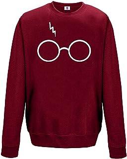 Inspired Geek Glasses Printed Sweatshirts with Large Glasses Print Retro Pot Head
