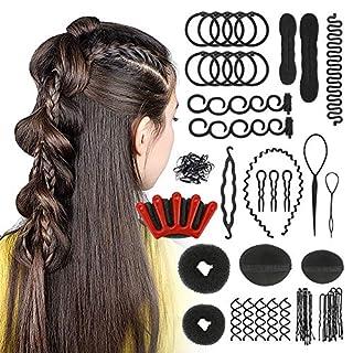 CestMall ヘアツール ヘアスタイリングツール ヘアアクセサリー ヘア編みツール ヘアDIYツールキット 髪編みツール ヘアモデリング まとめ髪 ヘアサーロン 25点