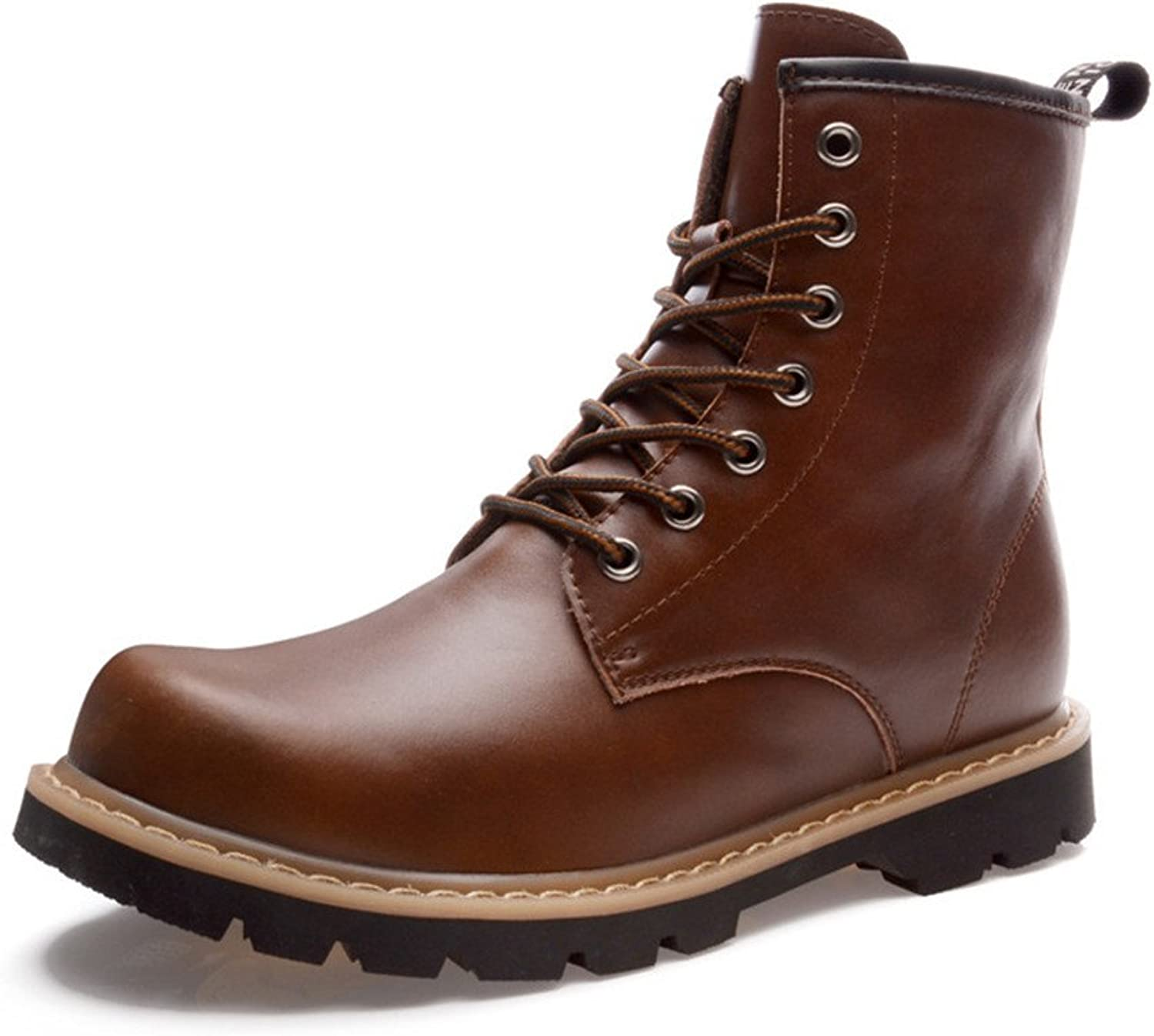 ZQ@QXWinter boots leather casual fashion comfortable warm shoes Martin boots