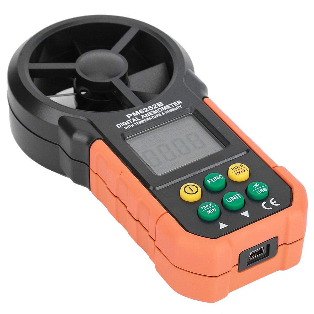 Deluxe Wind Speedometer Anemometer Speed Ou Measurement Year-end annual account for Thermometer