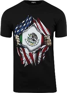 ShirtBANC Mexican USA Flag Mens Shirts Mexican American Culture USA Love