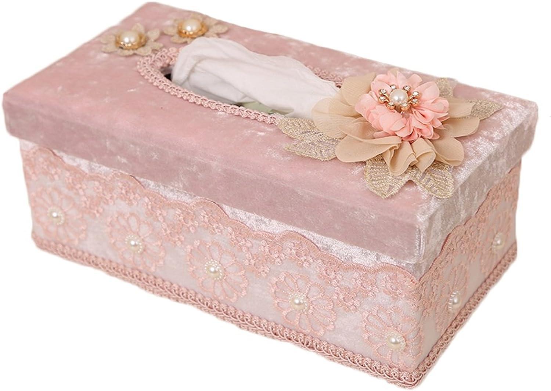 Tissue Holder Tissue Box European Style Rectangle Fabric Modern Simple Living Room Bedroom Car Family Restaurant Napkin R387