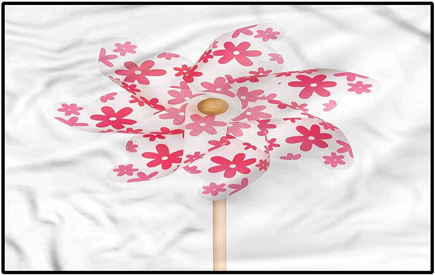 Pinwheel Bath Rugs Non-Slip Entry SALENEW very popular! Rug Pink with Flowers Max 50% OFF Figure O