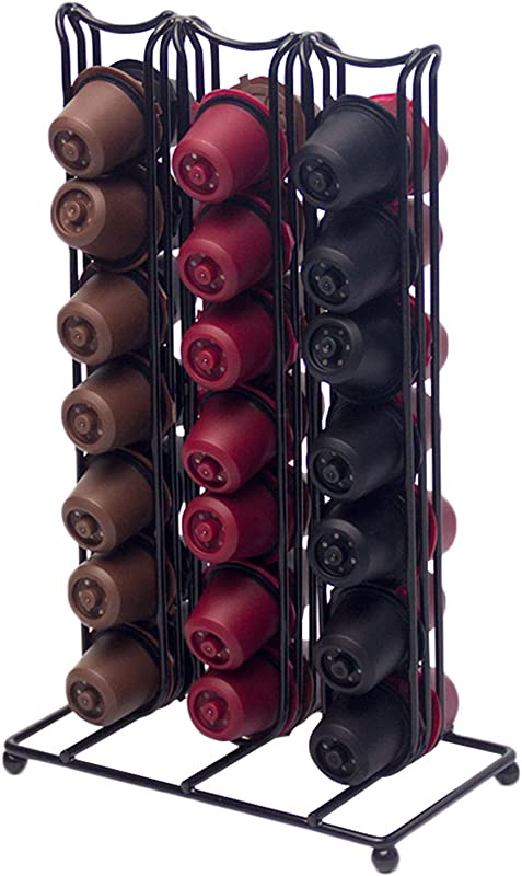 SJINC For Nespresso Coffee Pod Holder Vertuoline Pods Organizer 42 Capsules For Kitchen Or Office