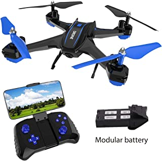GILOBABY FPV RC Drone with 720P HD Camera Live Video 2.4GHz 6-Axis Gyro Quadcopter for Kids & Beginners - Headless Mode, Altitude Hold, One Key Return, 360°Flip, Modular Battery