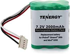 Tenergy 7.2V 2000mAh Replacement Battery for iRobot Braava 380t & Mint 5200