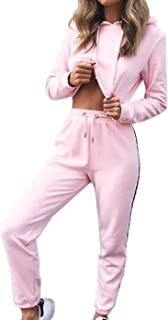 Leggings Fitness Yoga Sport Set TUDUZ-Damen Sportanzug Farbverlauf Bekleidungsets Langarm Crop Top