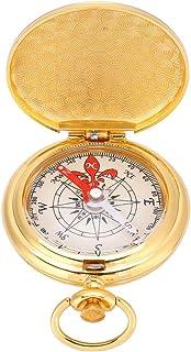 Kompas w stylu zegarka, gruby i przyzwoity mosiężny kompas na zewnątrz na wypadek sytuacji awaryjnych na kemping