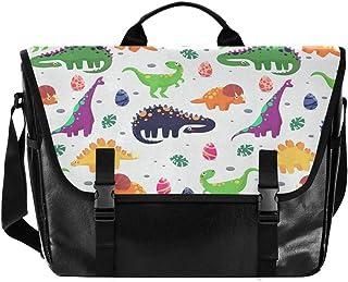 Color Dinosaurio T-Rex - Bolso de lona para hombre y mujer, diseño retro de bandolera, ideal para iPad, Kindle, Samsung