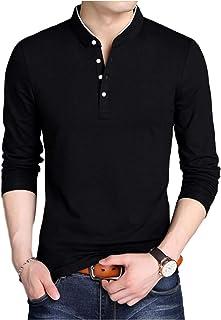 [パリド] スタンドカラー ロング tシャツ 立ち襟 ロンt 無地 長袖 シンプル キレカジ メンズ S ~ 4XL