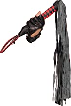 Leather Whip Role Play Accessory, One Size, Black