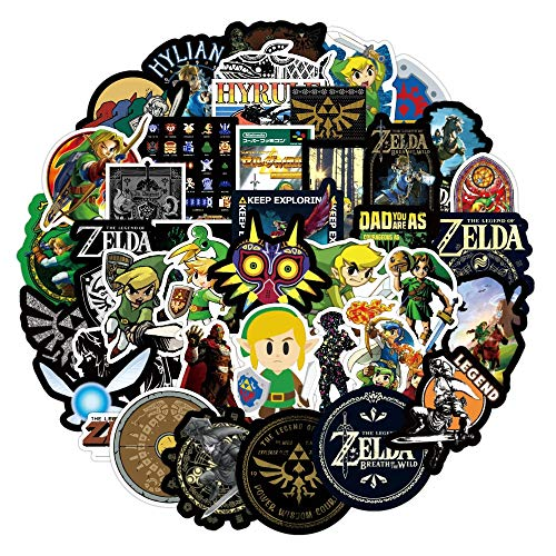 Legend of Zelda Anime Icon Animal Cute Decals Guitar Fridge Bicycle Stickers Gifts for Children to Laptop Suitcase 50 Pcs