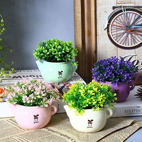 Green Seeds Co. Ankunft 2 Teile/los Kreative Teekanne Form Postral Stil Künstliche Blumentopf Blume Pflanze Miniascape Vase Wohnkultur