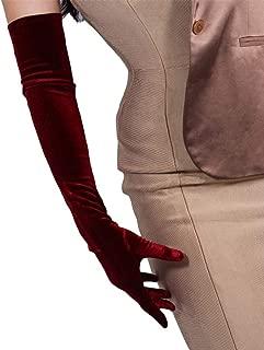 Best burgundy velvet gloves Reviews