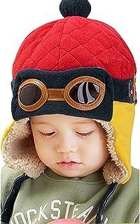 ManxiVoo Baby Girls Boys Hats Winter Warm Cap Hat Beanie Pilot Aviator Crochet Earflap Hats