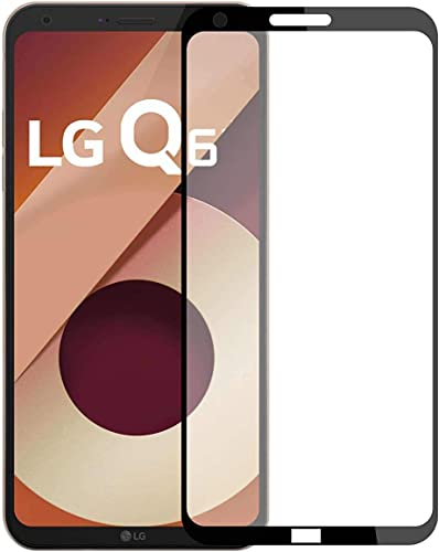 Plus 3D Edge Full Glue Front Body Cover Tempered Glass Screen Protector For LG Q6 Black