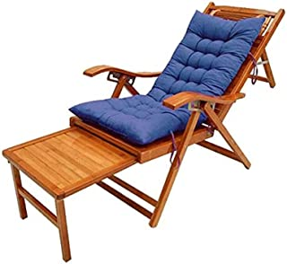 Patio Lounge Chairs Bamboo Sun Loungers, Adjustable Deck Chairs for Garden/Courtyard/Balcony Wooden Outdoor Sun Loungers w...