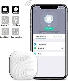 Nut3 Smart Key Finder Bluetooth WiFi Tracker GPS Locator Wallet Phone Key Anti-Lost Bidirectional Alarm Reminder (1 Pack, White)