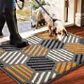 "Color&Geometry Indoor Doormat, Indoor Outdoor 24""x36"" Mat Waterproof, Non Slip Washable Quickly Absorb Moisture and Resist Dirt Rugs for Entrance…"