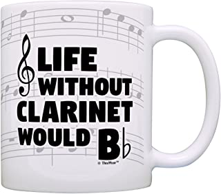 Funny Music Gifts Life Without Clarinet Would B Flat Marching Band Gift Coffee Mug Tea Cup Notes