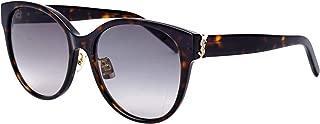 SL M39/K 003 Havana Plastic Round Sunglasses Grey Lens