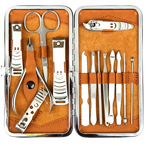 H&S Nail Clippers Manicure Set Grooming Kit for Thick Nails Cuticle Remover Toe Nail Toenail Care Cutter Pedicure Travel Tool Kit Set Men Women