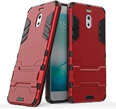 GOGME Funda para Meizu M6 Note(Note 6), Soporte Plegable Case, Rojo