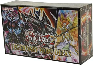 Yu-Gi-Oh! Cards Legendary Hero Decks - 5 Ultra Rare Trading Cards + A Playmat