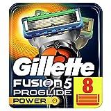 Gillette Fusion 5 Proglide Power Lames de Rasoir Homme, Pack de 8 Lames de Recharges [OFFICIEL]
