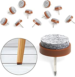 40pcs Furniture Felt Pad Round Heavy Duty Nail-on Slider Glide Pad Floor Protector for..