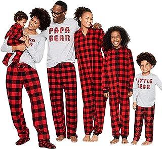 Pijama Familiar de Navidad Invierno Conjunto 2 Piezas Pantalon y Top
