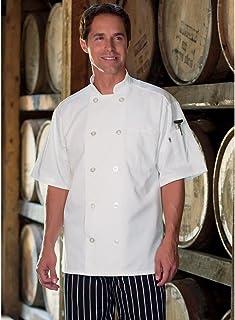 Uncommon Threads Unisex-Adult's Plus Size Chef Coat 10 BTN S.SLVS WHT