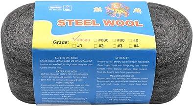 Jinlaili 1 Roll 80 g stalen wol, reinigingsdraad wol polijsten stalen wol, 0000 kwaliteit ultra fijne stalen wol pads, rei...