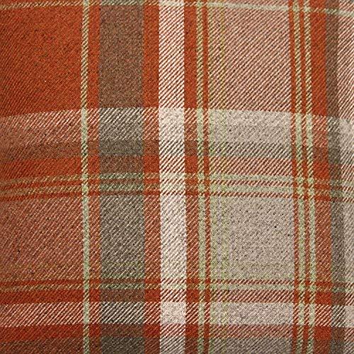 McAlister Textiles Tessuto Tartan Scozzese al Metro | Stoffa da Cucito Arredamento e Tappezzeria | Decorazioni Casa Effetto Lana Divano Sedie Poltrone Tende | Arancione Terracotta | Campione 20x10cm