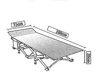 Aohi WXQ-XQ Chaise zéro gravité Portable, inclinable pliante, lit déjeuner de Bureau lit pliant Portable hôpital accompagnant