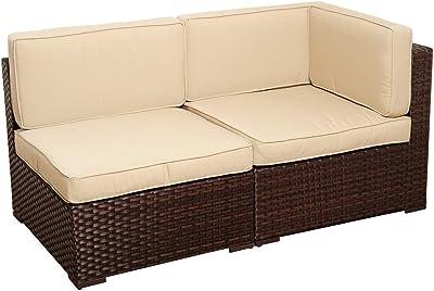 Amazon.com : Daonanba Comfortable Outdoor Sofa Set Poly ...
