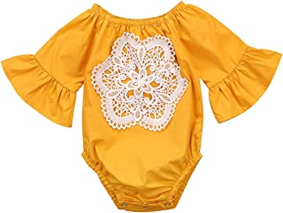 Floral Newborn Kid Baby Girl Infant Romper Jumpsuit Bodysuit Clothes Outfit 0-24 M