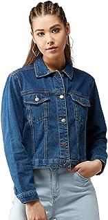 KOTTY Womens Regular Fit Denim Jacket(Blue,Medium)