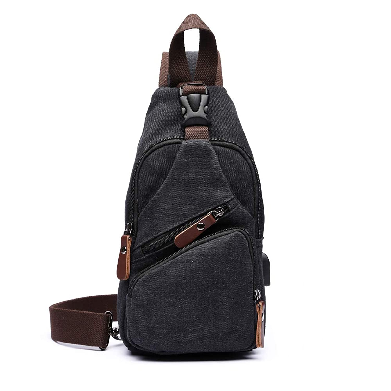 帆布 ショルダーバッグ メンズ レディース ボディバッグ 軽量 ワンショルダー 斜めがけ鞄 バッグ USB充電ポート